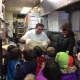 Students visit the pizzeria.