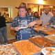 Guests enjoy the buffet at Saddle Brook Scouts' hoedown event.