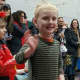 Dominick Argenzia walks in the Emerson schools' vocabulary parade Friday.
