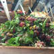 Quiona salad with roasted grapes, toasted pistachios, caramelized onions and arugula.
