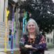 """ArtsWestchester has unveiled a sculpture in front of the library called """"Seeing the Wind"""" by artist Rochelle Shicoff and fabricator Cipora that is meant to represent the diversity of Mount Vernon."""