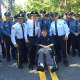 The late Paramus Police Capt. Emil Setmayer at this year's Fourth of July parade.