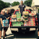 Stratford firefighters drop off donations for campers and for the food pantry at Sterling House which is currently in need of food.