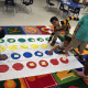 Kids at South Street School in Danbury enjoy International Dot Day.