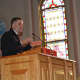 Dutchess County Executive Marc Molinaro spoke to a group of residents during the MLK celebration.