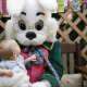 A friend of the Easter bunny who appeared to be sleeping at the Willowbrook Mall said she was dehydrated, while a mall spokeswoman said she was playing a game.