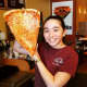 Giant slices are on the menu at Pizza Mia in Newburgh.