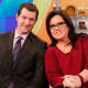 "Rosie O'Donnell with TV personality Billy Eichner during her days on ""The View."""
