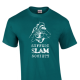 A Suffern Poetry/Slam Society official shirt. This shirt, among other items, can be purchased on their IndieGoGo fundraising site to help out the team go to Nationals.