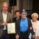 The tricentennial party also celebrated resident William Protze's 100th birthday.