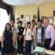 Students from China recently visited Rockland County Executive Ed Day and several prominent locations in the area.
