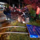 Three Injured After Car Crashes Into Route 59 Utility Pole