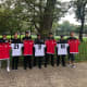 Port Authority police officers based at Newark Airport bought new uniforms for the girls soccer team at East Side High.