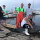 Members of the Staten Island Fishing Club reeled in a 510-pound shark.