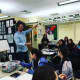 Disney animator Saul Blinkoff visited the Frisch School on April 4
