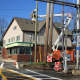 Orange & Rockland County Utilities installed the four new LED lights at the railroad crossing at Lake Road in Congers.