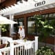 The tables are prepared at Cielo's outdoor dining space in Wilton, Conn.