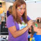 Claudia Nieswand of Pompton Lakes is a professional face painter.