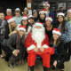 Deloitte volunteers with Santa