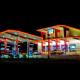 Flory's Convenience and Deli, a combo gas station and eatery in Fishkill, looks like a 1950s casino when it's all lit up at night.