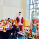 Heavenly Productions Foundation recently held a holiday event at Maria Fareri Children's Hospital. Pictured is Santa Claus with gifts.
