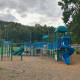 Mead Park's playground has seen better days. The town and Friends of Mead Park Playground, spearheaded by Chimera and Mahoney, are raising funds to have it replaced.