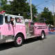 Guardians of the Ribbon's shiny, pink truck will help Woodcliff Lake raise money for breast cancer research.