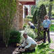 The Garden Club of Bergenfield brightened up the outside of the library on Wednesday.