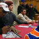 "Dwight ""Doc"" Gooden and Noah Syndergaard signing autographs in the LaPenta Student Union at Iona College."