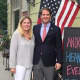 Andrew Heaney, a Millbrook resident and small-business owner, is seeking the Republican nomination in the 19th Congressional District on Tuesday. He is shown with his wife, Leslie.