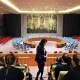 IHA students visited the UN Headquarters in April.
