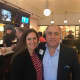 Christina Rae, president of Buzz Creators Inc., with Jonathan Otto, owner of The Rex pizza & lobster restaurant which recently opened along Route 100 (247 N. Central Ave.) in Hartsdale.
