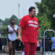 "Impractical Jokers cast member Sal was spotted sporting a Cresskill Lifeguard T-shirt for a ""punishment"" prank while filming at the swim club."