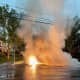 Paramus Power Lines Catch Fire During Afternoon Thunderstorm