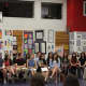 Eastchester High School's inductees at the National Art Honor Society ceremony.