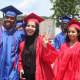 Peekskill High School graduates accepted their diplomas on Sunday at Paramount Hudson Valley.