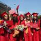 Peekskill High School graduates accepted their diplomas on Sunday at  Paramount Hudson Valley