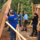 Samsung employees volunteer at Habitat For Humanity's Bergenfield site.