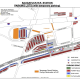 A map of the Saugatuck Train Station temporary parking lots.