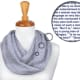 Litograph Infinity Scarves, available at Byrd's Books, are soft and versatile accessories printed with the first 30,000 words of a book on the fabric.
