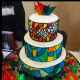 A stained glass cake.