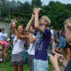 Hundreds converged on Rolnick Observatory in Westport for the solar eclipse.