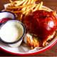Fried chicken sandwich at Pub Street in Pleasantville.