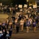 """Roughly 200 students took part in """"Take Back the Night"""" at Mount Saint Mary College."""