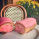 Pink eclairs at Bistro Versailles in Greenwich (only available in October in honor of Breast Cancer Awareness month).