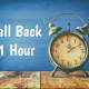 'Fall Back' Sunday As Clocks Change For Daylight Saving Time