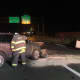A wrong-way car slammed into another car on Route 8 southbound in Derby on Friday night.