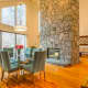 The home also contains a 19 foot tall granite fireplace.