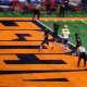 Brett Makar scores Yorktown's touchdown.