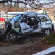 A woman was killed and four others were critically injured in a two-car crash in Bridgeport on Tuesday.